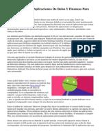 Las cinco Mejores Aplicaciones De Bolsa Y Finanzas Para Moviles Android