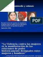 Feminicidio y Violencia