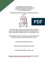 Logros y Limitaciones Del Programa Edúcame Para Educación Media en Seis Centros Escolares Públicos de Los Municipios de Mejicanos y Cuscatancingo 2010 (1)