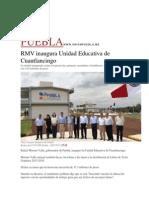 10-07-2015 El Universal - RMV Inaugura Unidad Educativa de Cuautlancingo
