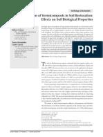 Utilization of Vermicomposts in Soil Restoration