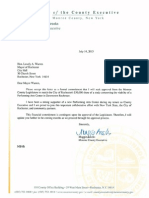 Brooks Letter to Warren Re-Performing Arts Center Study