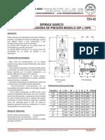 Td3-02_ Válvula Reguladora de Presión 25p y 25pe