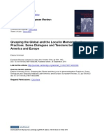 SCHINDEL - Grasping the Global and the Local in Memorialisation Practices