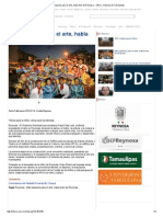 07-14-2015 Más Espacios Para El Arte, Habla Bien de Reynosa
