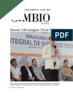 06-07-2015 Diario Matutino Cambio - Moreno Valle Inaugura CIS en Teziutlán