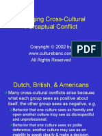 Managing Cross-Cultural Perceptual Conflict