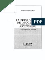 PRESUNCION DE INOCENCIA