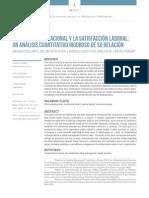 (Anibal, Oswaldo y Nieves, 2015) El Clima Organizacional y La Satisfacción Laboral