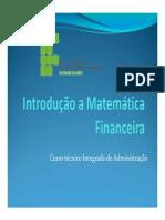 Introducao a Matematica Financeira