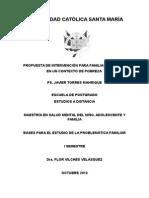 Propuesta de Intervención Para Familias en Contexto de Pobreza