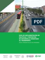 Guía de Implementación de Políticas y Proyectos de Desarrollo Orientado Al Transporte