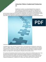 Actualizacion En Evaluacion Clinica Conductual Evaluacion Por Procesos Basicos