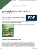 """Alternativas Ecológicas Para Prevenção de """"Pragas"""" e Doenças"""