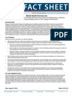 CA Auditor Mental Illness Fact Sheet