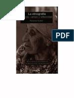 La Etnografia. Metodo campo y reflexibidad