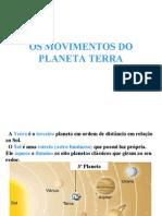 Os Movimentos Da Terra (5ª Série)