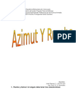 Trabajo interesante de Azimut y rumbo y demás temas