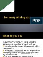 Summary Writing 101