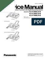 Panasonic Kx-ft982ls-984ls-988ls (Service manual repair)
