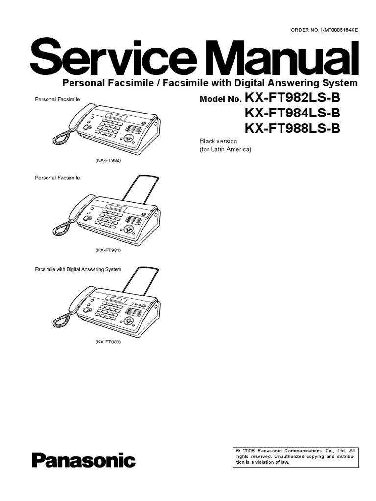 Panasonic kx ft982ru инструкция