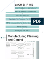 Manufacturing planning control