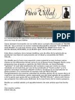 PACO VILLAL Presenta su nuevo disco