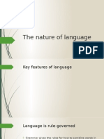 The Nature of Language (1)