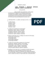 Banco de Preguntas y Respuestas Psicología General 2015