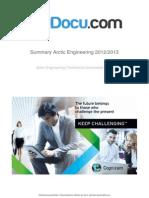 Summary Arctic Engineering 20122013