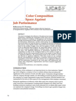 Effect of color composition in work space against job performance