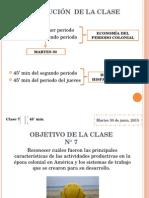 Periodo Colonial en América y Chile_clase_7