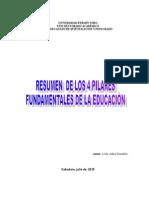 Resumen de Los 4 Pilares de La Educaciòn Adira Gonzalez