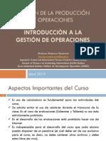 Unidad 1 - Introduccion a La Gestion de Operaciones