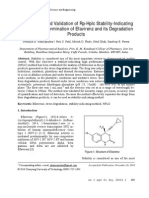 Optimization and Validation of RP-HPLC Stability-Indicating Methodd for Determination of Efavirenz and Its Degradation Products
