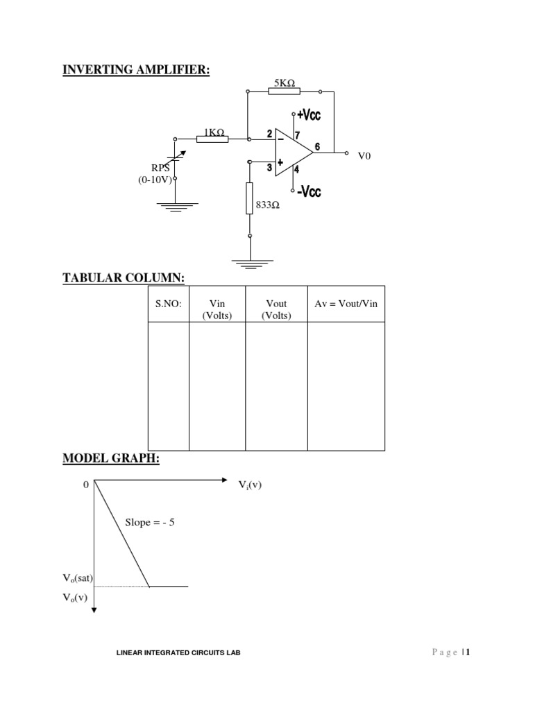 Lic Lab Manual Amplifier Power Supply Be Seen From The Circuit Ic 555 Use To Function Frequency Generator