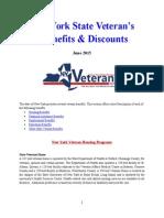 Vet State Benefits & Discounts - NY 2015^