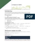 Guardar y Extraer Imágenes en MySQL