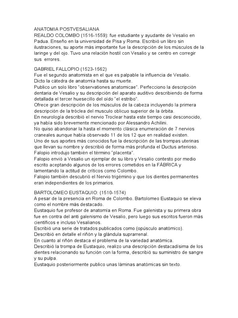 Medicina.cirugia Del Renacimiento y Barroco Clase Final