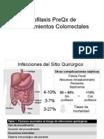 Antibioticos prequirurgica de cirugia colorrectales