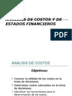 Analisis de Costos y Estados Financieros