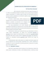 4 Pilares Fundamentales de La Educacion en Venezuela