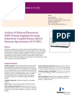 Exp8 Analysis of Nutrient Elements in Multi Vitamin Supplements