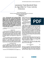 2013 JULY - A New Multi-parameter Dual-threshold State Discrimination Algorithm for Voice Activity Detection