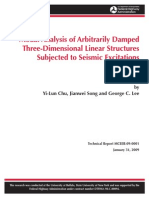MODAL ANALYSIS OF ARBITRARILY DAMPED THREE DIMENSIONAL LINEAR STRUCTURES SUBJECTED TO SEISMIC DESIGN