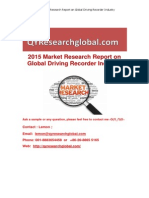 2015 Market Research Report on Global Driving Recorder Industry