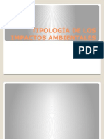 Tipologias de Los Impactos Ambientales