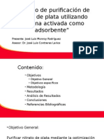 Proceso de Purificación de Nitrato de Plata