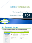 OnlineITreturn - What to Expect Once You Login