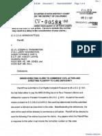 Kittles v. Washington et al - Document No. 1